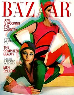Harper's Bazaar February 1970 -- Trippy, artificial, colorful