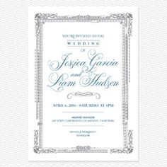Elegant Frame Wedding Invitations