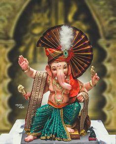 Shri Ganesh Images, Ganesha Pictures, Radha Krishna Images, Happy Ganesh Chaturthi Images, Ganesh Chaturthi Decoration, Baby Ganesha, Ganesha Art, Hindu Festivals, Indian Festivals