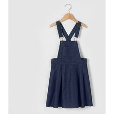 Denim Dungaree Skater Dress, 3-12 Years abcd'R (51 BRL) ❤ liked on Polyvore featuring dresses, denim skater dresses, dungaree dress, denim dungaree dress, denim dress and skater dresses