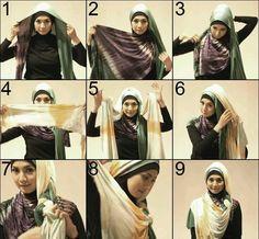 Fancy pleated style hijab...here is tutorial fro My Baju Muslim
