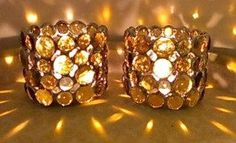 Candle Holders Votive Amber 2