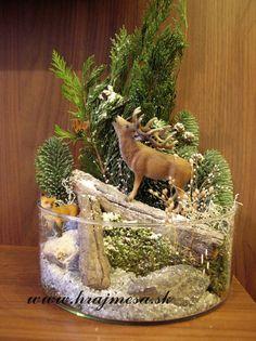 kúštik lesa vytvorený pomocou #Schleich zvieratiek #Schleich animals