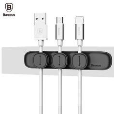 Baseus Peas Magnetische Kabel Clip USB Kabel Organizer Klem Desktop Workstation Opladen Wire Cord Management Kabelhaspel