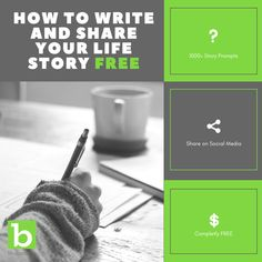 Have you ever thought about writing your life story? READ THIS! Awesome free tools to write and share your autobiography, memoir, biography, and more! Online Profile, Story Prompts, Writing Process, Writing Resources, Your Story, Your Life, Memoirs, Biography, Social Media