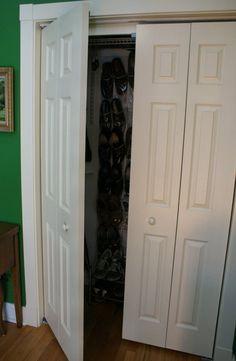 Converting a Bi-Fold Door Closet Hack | Apartment Therapy