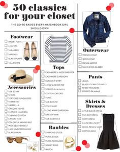 50 classics for your closet. These are some of the investment pieces that never go out of style!