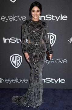 Vanessa Hudgens en robe Naeem Khan - Golden Globes 2017