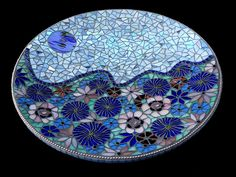Black Moon Rising - mosaic bowl
