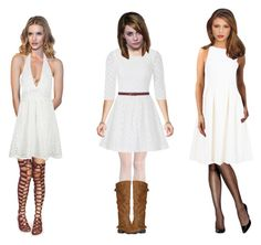 """""""White and sassy clothes"""" by ascarroll on Polyvore featuring Wolford, Lilly Pulitzer, M&Co, Hanes, ADAM and WithChic"""