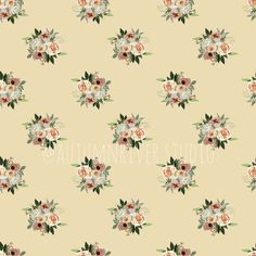 A vintage style rose design and seamless pattern. Suitable for all textiles and surfaces. It's romantic and classic.