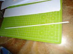 Papierröllchen aus Druckerpapier