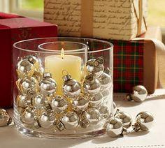 Silver Bulbs in vase.