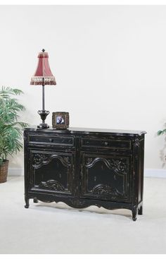 Ultimate Accents Black Astoria Narrow Console Table