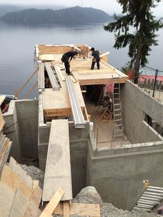Cliffhanger - view of main floor framing