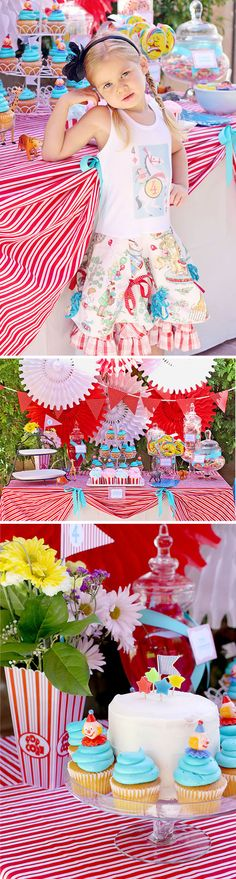 Circus Carnival Birthay Party via lilblueboo.com