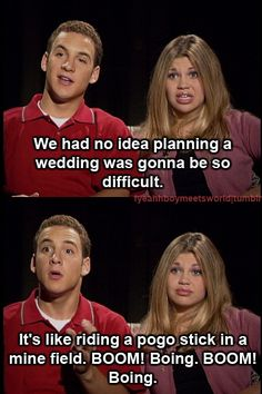 Corey and Topanga were always so smart... but they didn't have pinterest