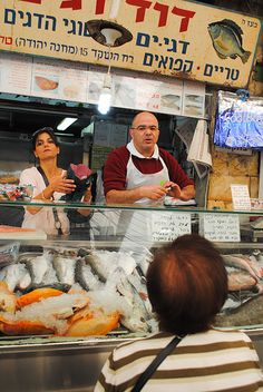 Fish Market - Mahane Yehuda - Israel---I DON'T LIKE EVERY KIND OF FISH, BUT I SUPPORT THE AMIABLE PEOPLE OF ISRAEL! SHALOM!!!!!