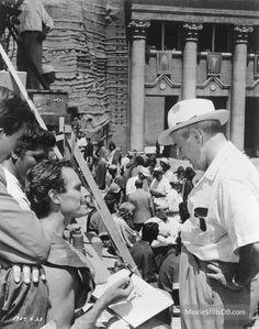 photo Charlton Heston William Wyler behind the scenes Ben-Hur 946-10
