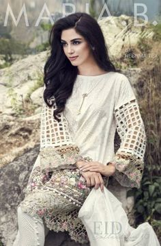 Maria B Festive Eid Chill Trends 2016 has dissimilar range of digital and embroidered shades and designs. Maria B has its vital contributing Pakistani Fashion Casual, Pakistani Dresses Casual, Pakistani Dress Design, Indian Fashion, Women's Fashion, Bollywood Fashion, Modern Fashion, Ladies Fashion, Pakistani Dresses Online