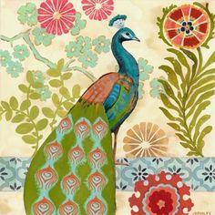 """Peacock Red Flower"" By Jennifer Brinley."