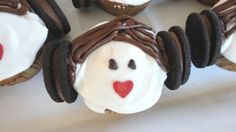 May the force be with you.    #starwars Princess Leia cupcakes