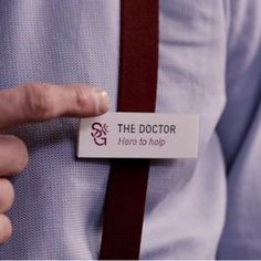 "Craig- ""what are you doing here?"" Doctor ""well i work here see i even got a name tag that says the Doctor just in case i forget my named which is nice seeing as that happens a lot"""