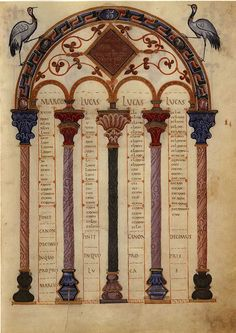 Category:Codex Aureus of Lorsch Architectural Features, Gold Letters, Old Books, Illuminated Manuscript, Byzantine, Mythology, Medieval, Germany, Miniatures