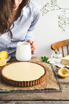 Citrónový koláč No Bake Cake, Quiche, Tart, Cheesecake, Food And Drink, Health Fitness, Cooking Recipes, Pie, Bread