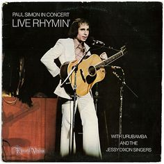 """""""Paul Simon in Concert: Live Rhymin'"""" was recorded during  Paul Simon's 1973-74 tour, and reached #33 in the US and was eventually certified gold by the RIAA. Two of the live performances were released as a single as part of the promotion for the album: the breakthrough Simon & Garfunkel """"The Sound of Silence"""" as the A-side, along with Simon's debut single """"Mother and Child Reunion"""" on the B-side. Simon was joined by Urubamba and the Jessy Dixon Singers.  (Vinyl LP)"""