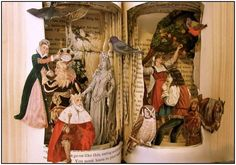 Altered Book ~ Grimm's Fairy Tales Great Idea to create Ocean Images flowing from within pages Book Sculpture, Sculptures, Paper Art, Paper Crafts, Classic Fairy Tales, Altered Book Art, Grimm Fairy Tales, Up Book, Art Series