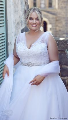 a4f97755ddc plus size perfection bridal 2016 sleeveles thick straps vneck lace bodice a line  wedding dress (