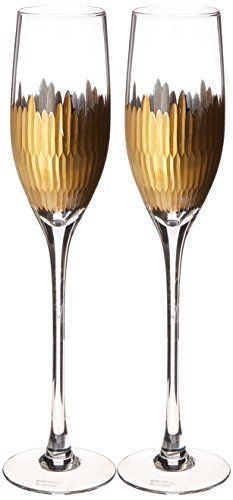 Lenox Marchesa Imperial Caviar Gold Champagne Flutes, Set of 2 * Want to know more, click on the image.