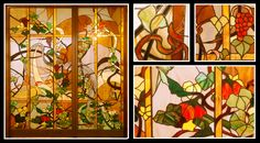 #glassatelier , #witraże , #stainedglass , #tiffany Stained Glass, Tiffany, Painting, Home Decor, Atelier, Leaves, Homemade Home Decor, Paintings, Stained Glass Windows