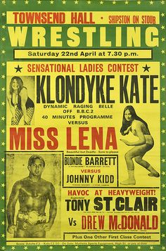 Lovely ladies of wrestling poster, shipton on stour by maraid, via Flickr