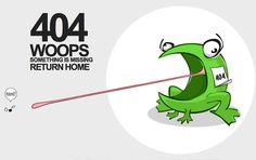 404 Frog Smacks at HTML