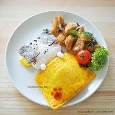 Cute Foodie by Peaceloving Pax Kawaii Bento, Cute Bento, Cute Food, Good Food, Bento Kids, Kawaii Cooking, Rainbow Food, Bento Recipes, Aesthetic Food
