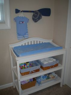 if you could get a changing table kind of like this can be easily converted to a book shelf later