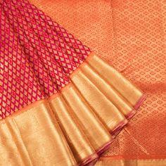 Ghanshyam Sarode Handwoven Kanchipuram Korvai Silk Saree With Zari Border 10003488 - AVISHYA