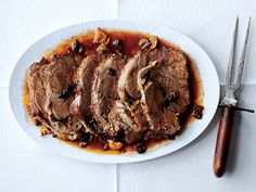 Lamb Pot Roast with Oranges and Olives Recipe | Epicurious.com