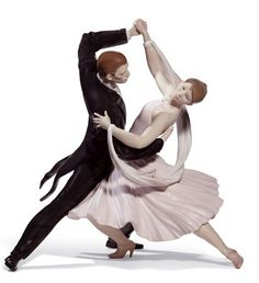 Lladro  ELEGANT FOXTROT  Why is Ballroom Dancing better than a Blind Date? You can get in close if you want to.