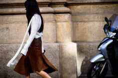 See all the best street style outfits from Milan Fashion Week now on wmag.com.