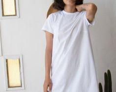 T camisa de vestir en un tamaño de gran tamaño / por ANNAKSHOP