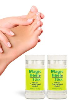 Sooth, repair, and revitalize your sore or cracked feet with roll-on Magic Heelz Sticks -- and feel beautiful from head to toe. Cracked Heel Relief, Cracked Feet, Cracked Skin, Diy Skin Care, Skin Care Tips, French Beauty Secrets, Beauty Tips, Coconut Oil For Skin, Happy Skin