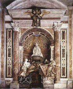Gian Lorenzo Bernini. Sepulcro de Alejandro VII. San Pedro del vaticano, Roma.