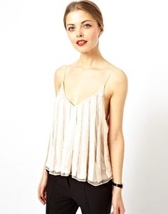 {ASOS Cami with Sequin Pleated Effect at ASOS - on sale}