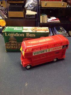 Nfic Friction Drive Double Decker Plastic London Bus 3054 Hong Kong Vintage   eBay