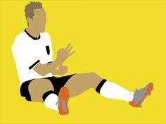 Miro Klose WM 2014 Illustration