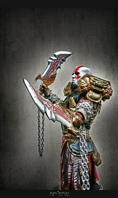 Kratos from God of War I would never have the time to do this but it's so amazing God Of War Game, This Means War, Kratos God Of War, Son Of Zeus, Gamer 4 Life, Code Black, Fantasy Comics, Fantasy Setting, Video Game Art