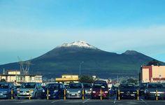 Pompei; Vesuvio con la neve